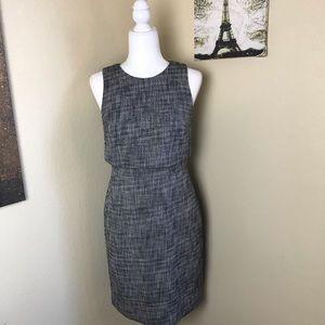 J. Crew black and white marled cotton dress 4